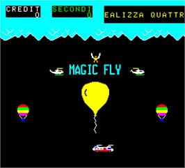 Title screen of Magic Fly on the Arcade.