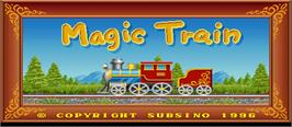 Title screen of Magic Train on the Arcade.