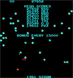 Title screen of Magic Worm on the Arcade.