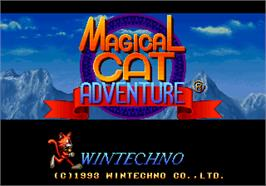 Title screen of Magical Cat Adventure on the Arcade.