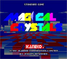 Title screen of Magical Crystals on the Arcade.