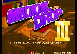 Title screen of Magical Drop III on the Arcade.