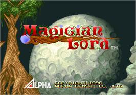 Title screen of Magician Lord on the Arcade.