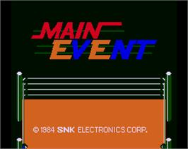 Title screen of Main Event on the Arcade.