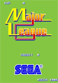 Title screen of Major League on the Arcade.