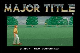 Title screen of Major Title on the Arcade.