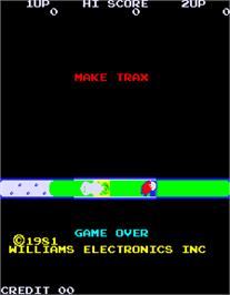 Title screen of Make Trax on the Arcade.