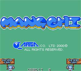 Title screen of Mang-Chi on the Arcade.