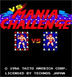 Title screen of Mania Challenge on the Arcade.
