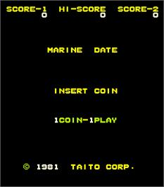 Title screen of Marine Date on the Arcade.