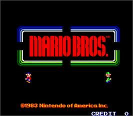 Title screen of Mario Bros. on the Arcade.