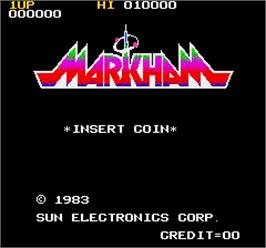 Title screen of Markham on the Arcade.