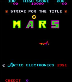Title screen of Mars on the Arcade.