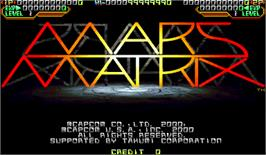 Title screen of Mars Matrix: Hyper Solid Shooting on the Arcade.