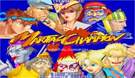 Title screen of Martial Champion on the Arcade.