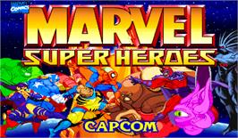 Title screen of Marvel Super Heroes on the Arcade.