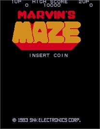 Title screen of Marvin's Maze on the Arcade.