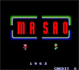 Title screen of Masao on the Arcade.