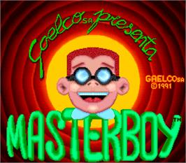 Title screen of Master Boy on the Arcade.