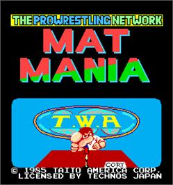 Title screen of Mat Mania on the Arcade.