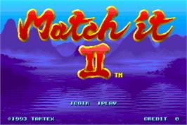 Title screen of Match It II on the Arcade.