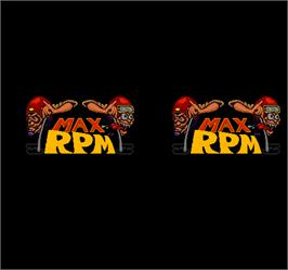 Title screen of Max RPM on the Arcade.