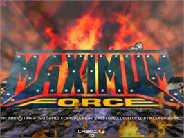 Title screen of Maximum Force on the Arcade.