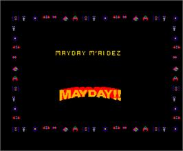 Title screen of Mayday on the Arcade.