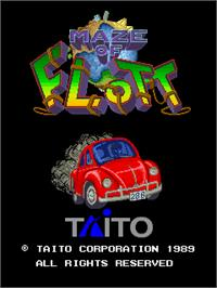 Title screen of Maze of Flott on the Arcade.