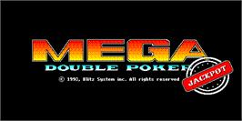 Title screen of Mega Double Poker Jackpot on the Arcade.