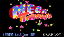 Title screen of Mega Twins on the Arcade.