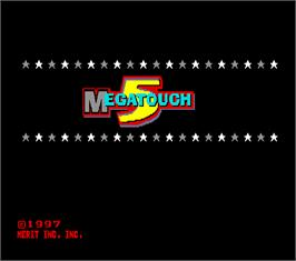Title screen of Megatouch 5 on the Arcade.