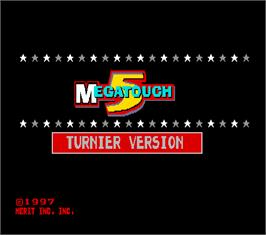 Title screen of Megatouch 5 Turnier Version on the Arcade.