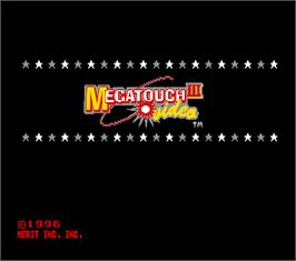 Title screen of Megatouch III on the Arcade.