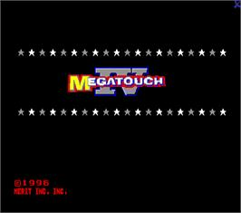 Title screen of Megatouch IV on the Arcade.
