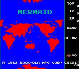 Title screen of Mermaid on the Arcade.