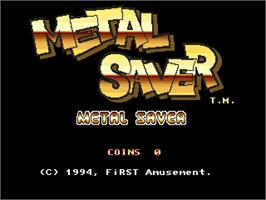 Title screen of Metal Saver on the Arcade.