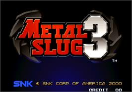 Title screen of Metal Slug 3 on the Arcade.