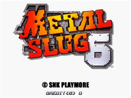 Title screen of Metal Slug 6 on the Arcade.
