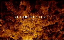 Title screen of Metamoqester on the Arcade.