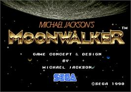 Title screen of Michael Jackson's Moonwalker on the Arcade.
