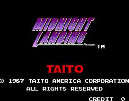 Title screen of Midnight Landing on the Arcade.