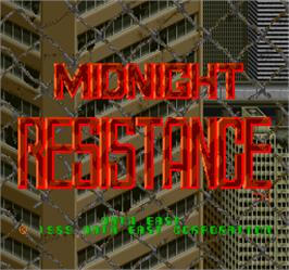 Title screen of Midnight Resistance on the Arcade.