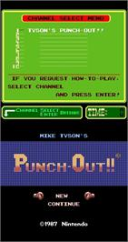 Title screen of Mike Tyson's Punch-Out!! on the Arcade.