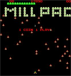 Title screen of Millpac on the Arcade.
