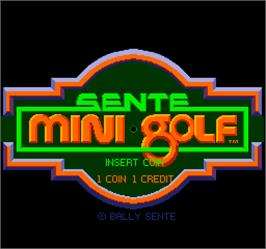 Title screen of Mini Golf on the Arcade.