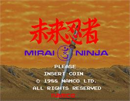 Title screen of Mirai Ninja on the Arcade.