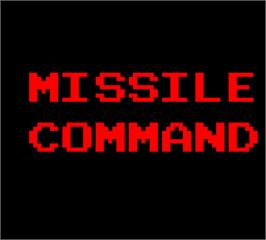 Title screen of Missile Command on the Arcade.