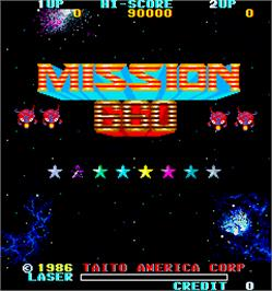 Title screen of Mission 660 on the Arcade.