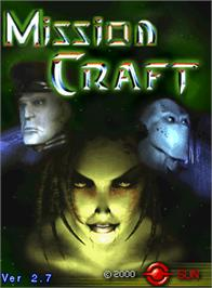 Title screen of Mission Craft on the Arcade.